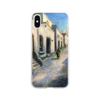 YOSHIKO MIYAHARA 「プロヴァンスの街並み」 Soft clear smartphone cases