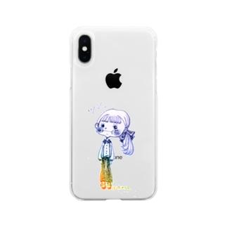 塩対応ちゃん Soft clear smartphone cases