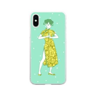 カンフーガール Soft Clear Smartphone Case