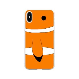 カクレクマノミ Soft clear smartphone cases
