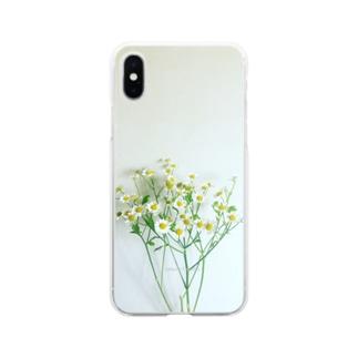 sakura f studioのマトリカリア  ソフトクリア Soft clear smartphone cases