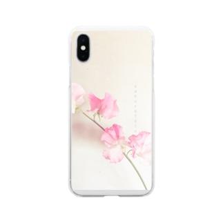 スイートピー   ソフトクリア Soft clear smartphone cases