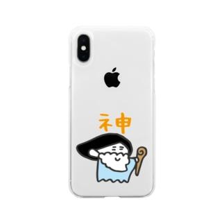 神 Soft clear smartphone cases
