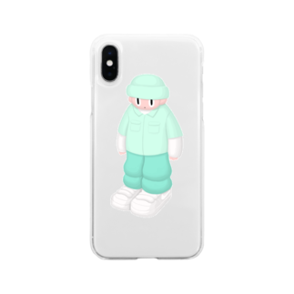 YAMEPI SHOPのStreet boy Soft clear smartphone cases