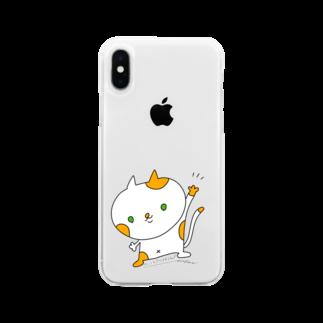 🐱Nico ART🐱のハイハイにゃん! Soft clear smartphone cases