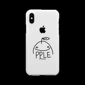 ゆるふわ屋のすまいるアップル Soft clear smartphone cases