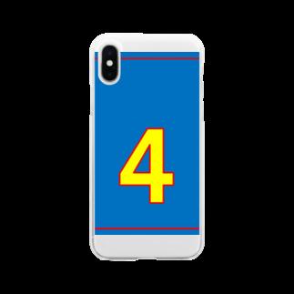 やんちゃな68番の俺様は4番だ! Soft clear smartphone cases