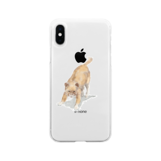 Olu 'OluのAngry cat Soft clear smartphone cases