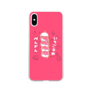 イチゴ飴ぺんぎん Soft clear smartphone cases