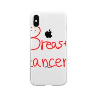 皇月SATSUKIのBreast cancer Soft clear smartphone cases