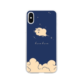 wataobiのひつじぐも Soft clear smartphone cases