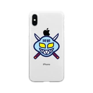 パ紋No.3358 阿部  Soft clear smartphone cases