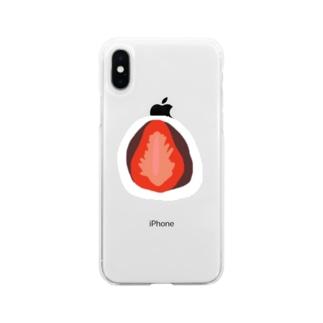 もっものいちご大福 Soft clear smartphone cases