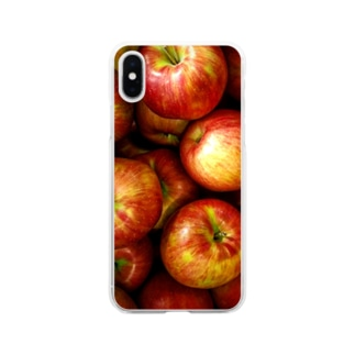Apple紅 Soft clear smartphone cases