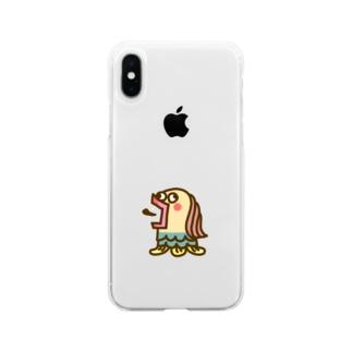 きもかわアマビエ Soft clear smartphone cases