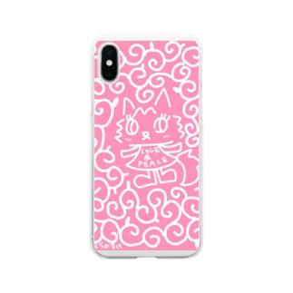 からくさあんみつちゃん Soft clear smartphone cases