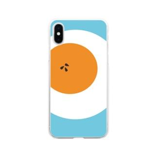 ゆで卵 Soft clear smartphone cases