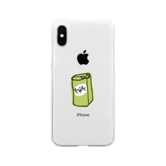 スタバのやつ Soft clear smartphone cases