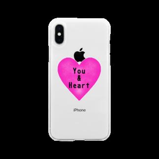しおい&しおん  毎月下旬 定価セールのYou & Heart Soft clear smartphone cases