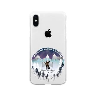 Pond Hockey Tee Soft clear smartphone cases