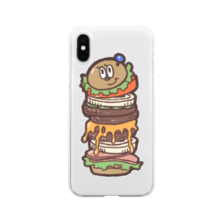 YMDのBurger Soft clear smartphone cases