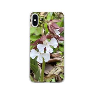 yotarosuzuriのお庭のお花ちゃんエビネ Soft clear smartphone cases