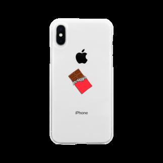 がーな。のさりげなく、チョコレート Soft clear smartphone cases