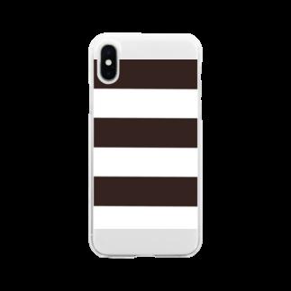 Atomatomのボーダー Soft clear smartphone cases
