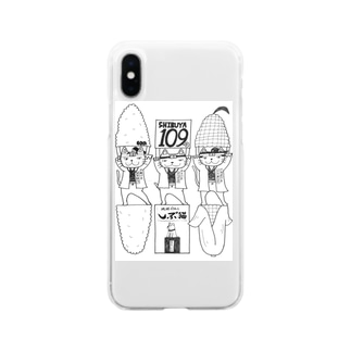 しぶ猫新撰組 Soft clear smartphone cases