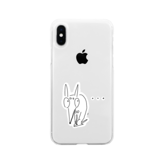 KINJI'sショップの怒られるいっぬ Soft clear smartphone cases