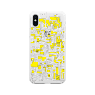 daikonmeshi's placeの小学生が一生懸命作った手書き迷路 Soft clear smartphone cases