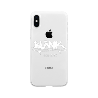 ____Ryuno____     のBLANK sk8 WHITE Soft clear smartphone cases