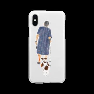 Olu 'OluのWalking around with buddy Soft clear smartphone cases