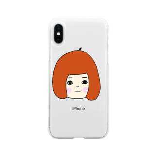 Margot.の無表情女子 Soft clear smartphone cases