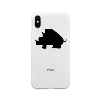 Animals MatingのAnimals  Mating(動物達の交尾) Soft clear smartphone cases