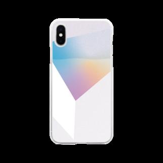MOCHIDAのグラデーション Soft clear smartphone cases