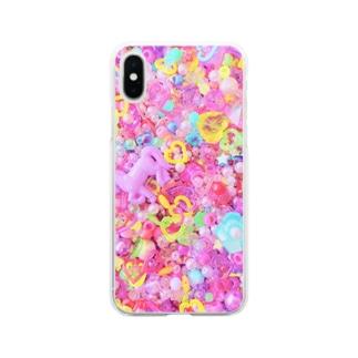 キラキラのまほう Soft clear smartphone cases