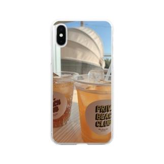 湘南パシフィック Soft clear smartphone cases