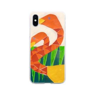 フラミンゴケース Soft clear smartphone cases