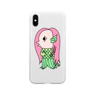 アマビエ Soft clear smartphone cases