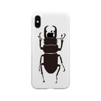 コクワくん Soft clear smartphone cases