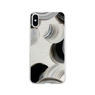 黒縄 Soft clear smartphone cases