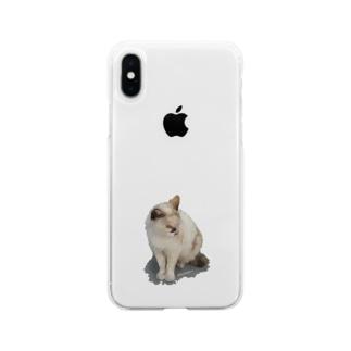🐈අයාලේ යන පූසා Soft clear smartphone cases