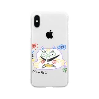 ぽしゃ猫グッズ Soft clear smartphone cases