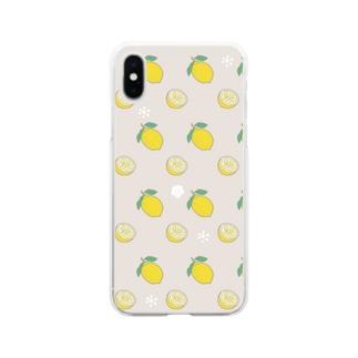 レモンレモン Soft clear smartphone cases