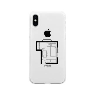 わたしのへや Soft clear smartphone cases