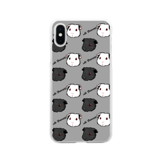 Lichtmuhleのwith Guineapig グレー Soft clear smartphone cases