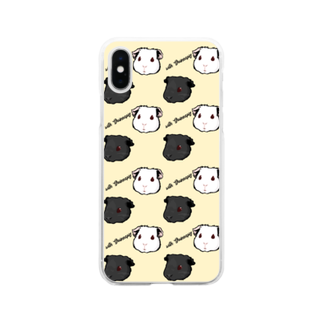Lichtmuhleのwith Guineapig イエロー Soft clear smartphone cases