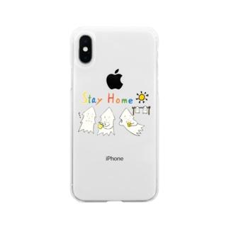 モンゴイカンパニー 販売部のSTAY HOME モンゴイカ Soft clear smartphone cases