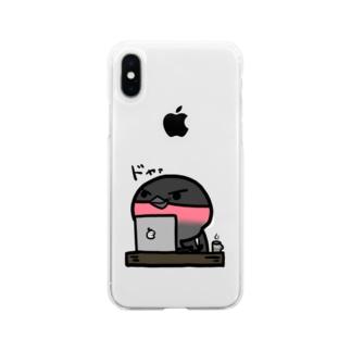 常連ドヤラーのウソちゃん Soft clear smartphone cases